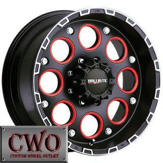 20 Black Ballistic Enigma Wheels Rim 5x139.7 5 Lug Dodge Ram Durango