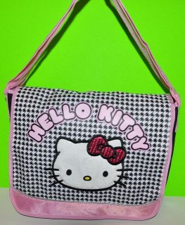 HELLO KITTY MESSENGER BAG CHECKERS Backpack BOOKBAG TOTE PURSE /DIAPER