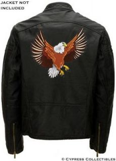 LARGE BALD EAGLE EMBROIDERED MOTORCYCLE BIKER PATCH USA IRON ON back