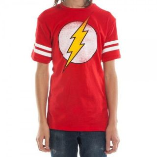 THE FLASH ringer tee t Shirt S M L XL XXL NEW Sheldon Cooper Big Bang