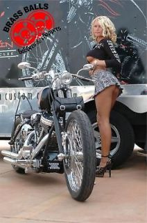 Bobber Chopper Big Dog Motorcycle Girl Banner Sign Flag 7