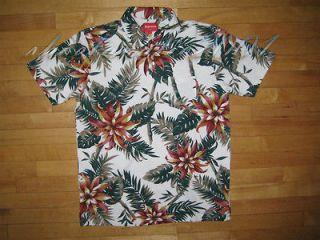 Supreme Floral Polo Navy Shirt L Large White Box Logo Comme des garcon