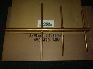 NEW Yagi Base Antenna UHF 450   470   3 Elements   7.1 dBd Gain