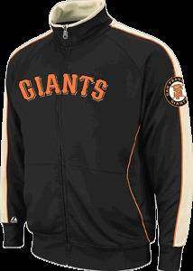 Majestic San Francisco Giants Profector Full Zip Black Track Jacket