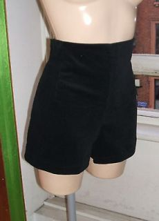 Baylis Knight HIGH WAISTED Fine CORD Black Hot Pants Super SHORTS