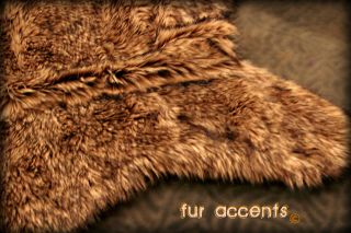 COYOTE ACCENT RUG 3X5 FAUX FUR BEAR SKIN ACCENT WOLF HIDE RUGS SHEEP