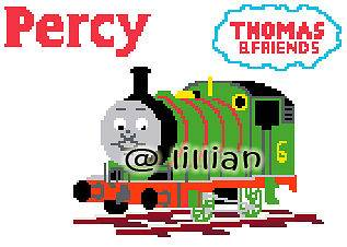NEW *THOMAS TANK ENGINE & FRIENDS ~ PERCY* Cross Stitch PATTERN