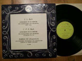 CPE and JS Bach Concerto in D minor Loiseau lyre OL 50138 Isabelle