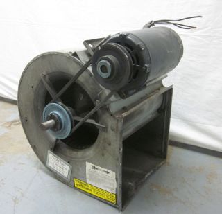 Smith 1 1/2 Hp Squirrel Cage Fan Blower Exhaust 3 Ph Belt Driven