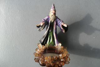 Wizard Figurine with Stone Edge Pond. Berkeley Design. 2001