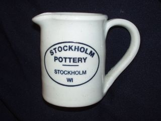 STOCKHOLM POTTERY WISC WISCONSIN WI CREAMER MILLNER