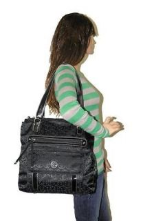 NEW GIANI BERNINI BLACK CIRCLE SIGN SIGNATURE EXTRA LARGE SHOPPER HOBO