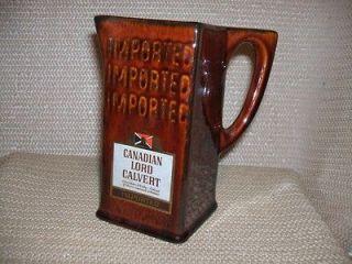 CANADIAN LORD CALVERT Bar Pitcher LIQUOR