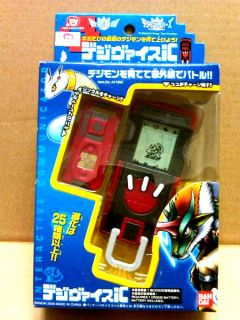 BANDAI Digital Monsters RED DIGIVICE iC DATA LINK 20X VERSION NEW&RARE