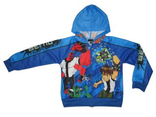 JKJ04 BNWT Boys BEN 10 hooded track jacket XXL Age 9 10