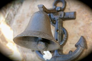 Cast Iron Rustic Nautical Anchor DOOR BELL ~Tiki Door Bell GARDEN
