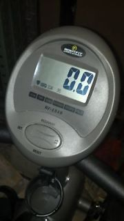 Bodyfit Sports Authority Recumbent Bike Heart Rate Grey Display Pedals