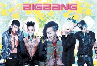 Big Bang BIGBANG G Dragon,Tae Yang,T.O.P,Seung Ri,DaeSung KOREAN BAND