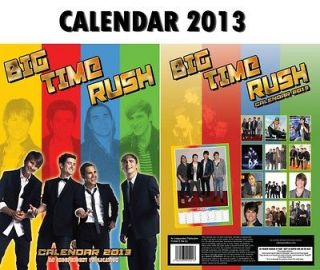 BIG TIME RUSH CALENDAR 2013 BY DREAM + FREE BIG TIME RUSH FRIDGE