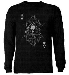 Big and & Tall THERMAL Ace of Spades T shirt Tee LS