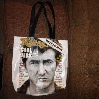 LARGE Official ROLLING STONE TOTE Book HANDBAG PURSE SEAN PENN BIG