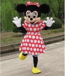 NEW Crazy Sale Minnie Mouse Mascot Costume Fancy Dress Halloween+Foam