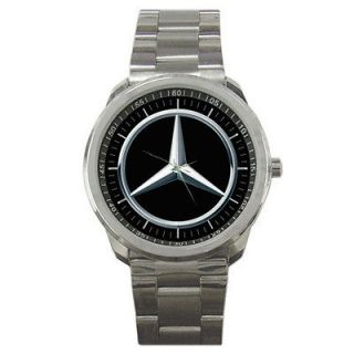 New Mercedes Benz Logo Custom Rare Mens Sport Metal Watch Gift Special