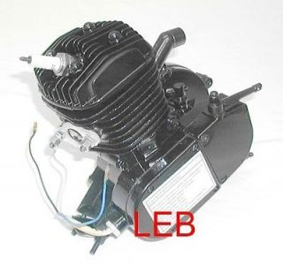 BLACK 80CC MOPED BICYCLE MOTOR ENGINE KIT BIKE X 80BK