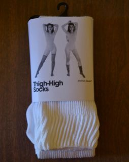 American Apparel Cotton Solid Thigh High Sock   O/S 4 Colors Available
