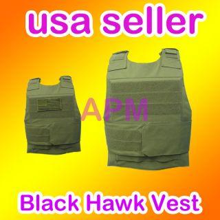 Tactical Black Hawk Down Army Body Armor Plate Vest Grn