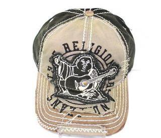 NEW UNISEX TRUE RELIGION ☆ BIG BUDDHA CAP HAT BLACK *TR1101