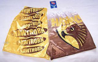 Hawthorn Hawks AFL Mens Satin Boxer Shorts Size L New