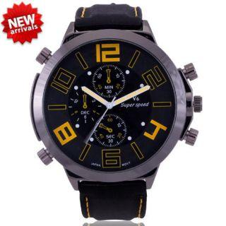 Oversize Bezel Men Boy Sport Fashion Wrist Watch Casual HOUR CLOCK A1