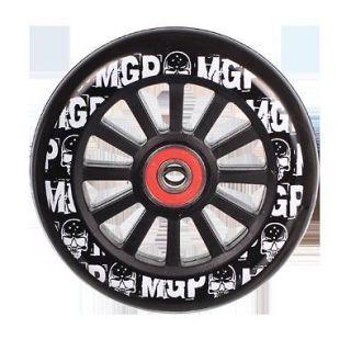 MGP PRO SCOOTER WHEEL 100MM BLACK WHEEL W/ WHITE PRINT AND BLACK CORE
