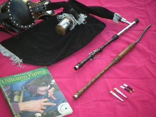 BAGPIPE  PRACTICE SET  AFRICAN BLACKWOOD 3 KEY CHANTER BOOKLET