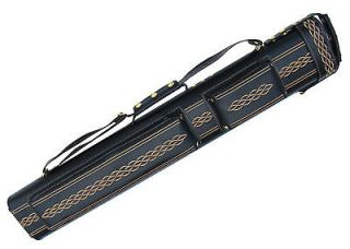 Hard Pool Cue Stick Case Black Gold Billiards 2x4