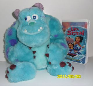 DISNEY SULLY MONSTERS INC. 11 PLUSH & VHS
