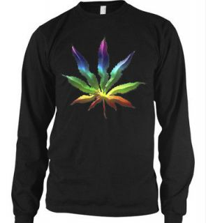 Marijuana Rainbow Leaf Ganja Weed Rasta High Thermal