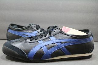 New Asics Onitsuka Tiger MEXICO 66 BLK BLUE UNISEX SHOE HK7C2 7