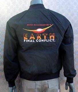 Earth Final Conflict Black Jacket  X LARGE