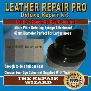 50ML DARK GREY Leather Repair Pigment Dye Kit Unique Applicator