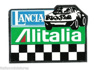 Lancia Stratos Alitalia Chrome Foil Sticker Decal 11cm