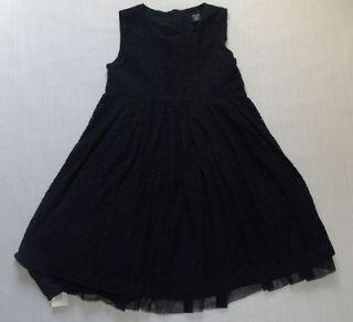 BABY GAP Girls Size 3 Navy Blue Ocassion Eyelet Sleeveless Dress Set