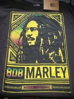 BOB MARLEY Concert Poster Shirt size LARGE ROOTS ROCK REGGAE House Of