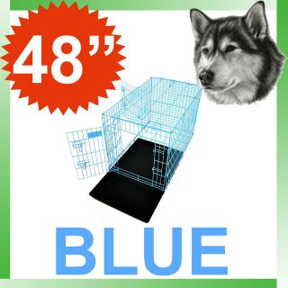 New Champion 48 Blue Portable Folding Dog Pet Crate Cage Kennel 3