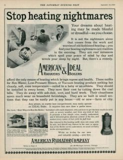 1909 AD American Ideal heaters and boilers coal bill