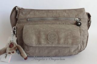 KIPLING SYRO Shoulder Cross Body Bag Peppered Powder