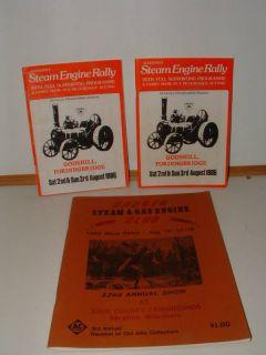 Older steam engine rally Books 1986,1985 Nice books