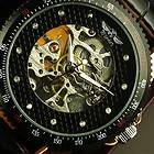 Louis Bolle Automatic skeleton watch blue leather brand new Luxury