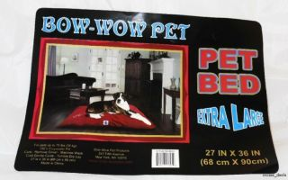 """Bow Wow Pet Bed Extra Large Fleece Dog Pet Bed 27"""" X 36"""" Solid"""